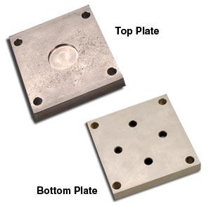 Serie LCM1000-BP4 and LCM1000-TP4 y  LCM1000-TP4 : Placas de montaje superiores e inferiores para celdas de carga de la serie lcm1001/lcm1011.  De aleaci�n, acero niquelado o acero inoxidable 17-4 ph