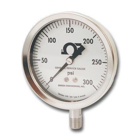 Manómetro de uso industrial relleno de líquido
