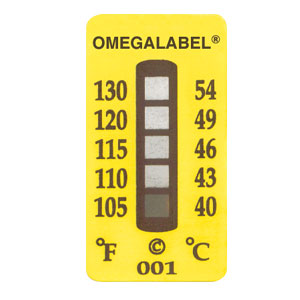 non-reversible temperature label