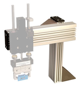 Pre-engineered Modular Components designed for a simple and sturdy beam construction, quick assembly and T-slot mounting platform for DLT Linear Actuators and DLM Rail Slides. | DMEX Series DIRECTCONNECT™ Mounting Stanchion Components