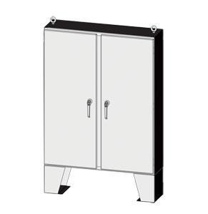 Outdoor Enclosures, NEMA Type 3R & 4 Enviroline® Series Two-Door Steel Electrical Enclosure and Control Panel by Saginaw Control | SCE-60EL and SCE-72EL Outdoor Enclosure