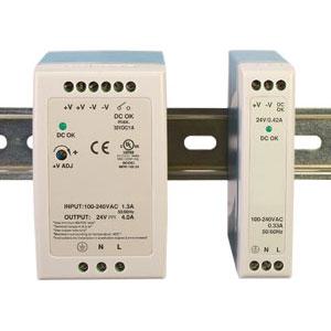 Fuentes de alimentación, montaje de carriil DIN, de 10 a 100 watios para 5, 12, 24 & 48 VDC | Serie SL-PS de fuentes de alimentación