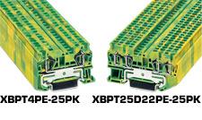 Spring Cage Ground Terminal Blocks   XBPT PE Series
