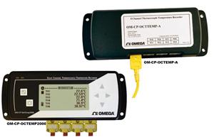 Registradores de datos de temperatura de 8  canales. | OM-CP-OCTTEMP-A