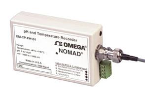 Registrador de datos de pH y temperatura de la familia Nomad | OM-CP-PH101