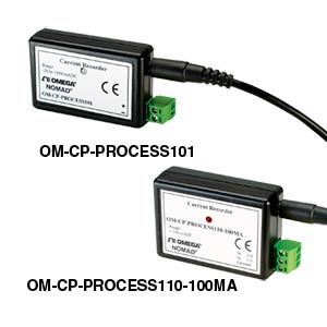 Process Current Data Loggers (+/- 100mA)    OM-CP-PROCESS101 and OM-CP-PROCESS110
