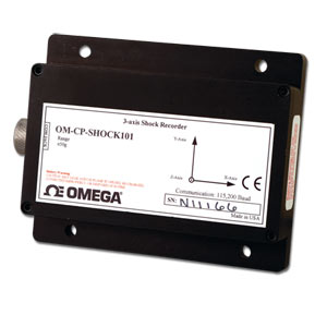 3 axis accelerometer data logger - Order online | OM-CP-SHOCK101 series