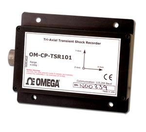 Tri-Axial Transient Shock Data Logger | OM-CP-TSR101-50