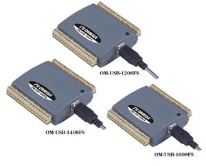Adquisición de datos analógicos USB con 8 canales de voltaje | OM-USB-1208FS, OM-USB-1408FS and OM-USB-1608FS