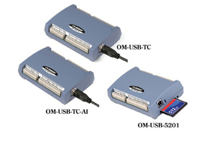 Thermocouple/Voltage Data Acquisition Modules | OM-USB-TC, OM-USB-TC-AI and OM-USB-5201