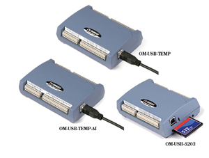 USB Data Acquisition Modules | OM-USB-TEMP, OM-USB-TEMP-AI and OM-USB-5203