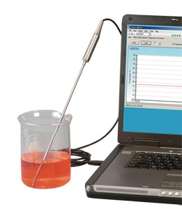 Sonda de termopar con junta de transición con interfaz USB y software gratuito | Serie TJ-USB