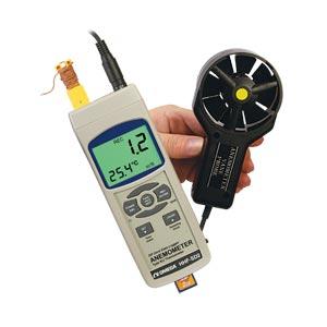 Anemómetro de alambre con registrador de datos | HHF-SD2