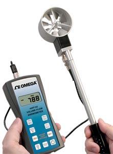 HHF142 Series Handheld Rotating Vane Anemometer | HHF142