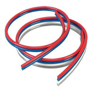 Omegaflex® Multi-Colored Ribbon Polyurethane Tubing   MCRPT Series Tubing, 95A Durometer Polyurethane Tubing