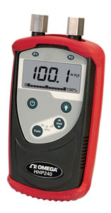 Manómetro digital manual para presión diferencial, manométrica y absoluta | Serie HHP240