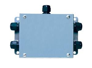Caja sumatoria para múltiples celdas de carga, suma 2, 3 o 4 celdas de carga   JBOX-4-ET