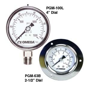 Manómetros industriales de acero inoxidable. | Serie PGM