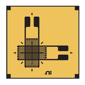 Calibrador de tensión de posición roseta superpuesta en T | SGD_BIAXIAL