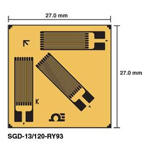 Corner Rosette Strain Gauges | SGD-13/120-RY93