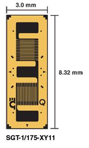 Galga de tensión transductoras de calidad .   Serie SGT-1/175-XY11