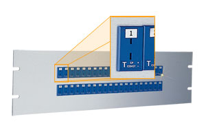 19 inch Rack Panels with Miniature Thermocouple Sockets   19MJP Series