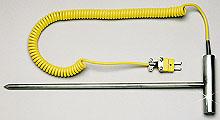 Termopar de penetración robusto con mango en T | Sonda de penetración robusta 88311(*) & 88312