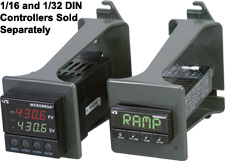 Mounting Brackets For 1/16 or 1/32 DIN Instruments | CN9-16-MB and CN9-32-MB