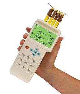 Termometro con 4 entradas y registrador de datos | HH1384