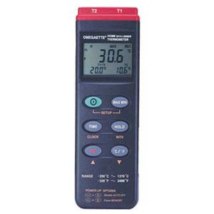 Data logger RS232 o USB con entrada dual de termopar tipo K | HH306A
