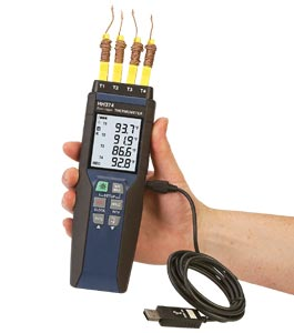 Handheld Data Logger Thermometer | HH374