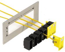 Terminales a presión para montaje de tomas de corriente miniatura de panel MPJ | Serie MSS