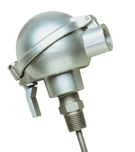 Spring Loaded Platinum RTD Probes With Connection Heads for Use in Thermowells   PR-SL Series