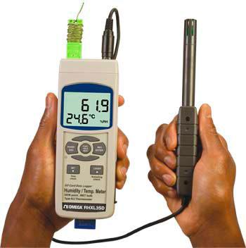 Registrador de datos y termómetro/higrómetro manual | RHXL3SD