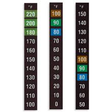 Reversible Liquid Crystal Temperature Label, Models RLC-80-(*), RLCL-15/30, RLCM-15/30 | RLC-80, RLCL, and RLCM Series