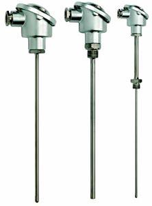 Conjunto pt100 & termopar industrial con cabeza DIN Bindustriales | Series B-P, B-J, B-K, B-T, B-N