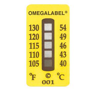Etiquetas no-reversibles OMEGALABEL®, 5 rangos de temperatura | TL-5